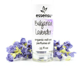Organic Bulgarian Lavender Essential Oil Aromatherapy Roll-On Perfume Oil | Non-Toxic Fragrance Roller Perfume | Vegan | No Gluten - .35 oz