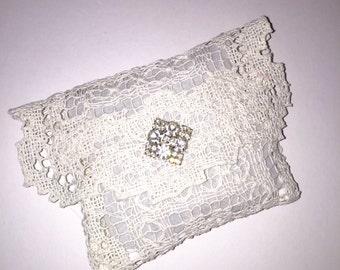 Handmade Lavender Sachet Made from Vintage Linen