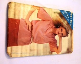 Vintage1980s Butterick 6946 see & sew blouse sewing pattern