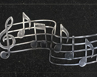 Musical Scale Metal Art