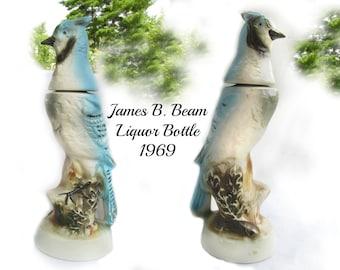James B. Beam liquor bottle - whiskey decanter - Jim Beam  decanter -liquor bottle - man cave decor - collectible bottle - #  52