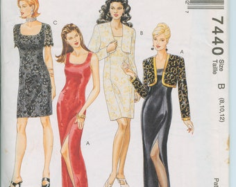 McCall's Misses Dress in 2 Lengths and Bolero Pattern 7440