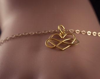Infinity Love Bracelet, 24K Gold Plated, Eternity Love, Infinity Love,  Gold Plated - Dainty Bracelet, Friendship, Gift