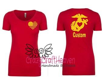 Marine Wife Shirt, Us marine Spouse Shirt, Military spouse shirt, Deployment strong, Milso, USMC wife, Girlfriend, Fiance