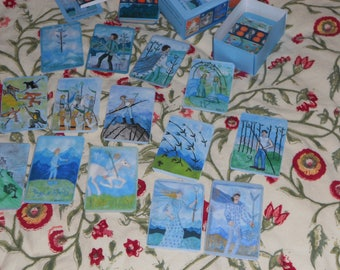 Airy Wands Tarot: hand-made poker-size deck, in stock