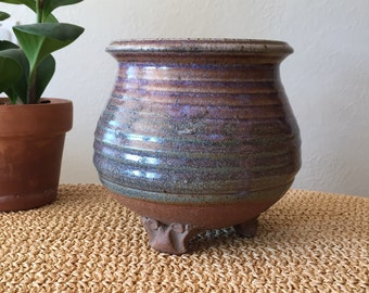 Studio Pottery Planter with Feet