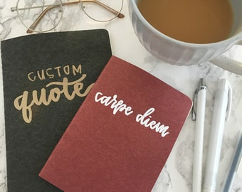 Custom Lettered Journals