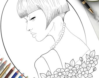 Printable Colouring Page In Profile