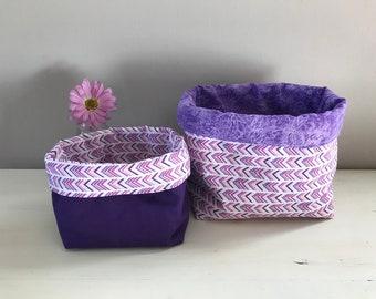 Fabric Baskets (Set of 2)