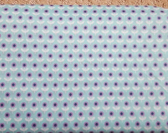 Sale!! Tulip March Aqua Voile Fabric by Joel Dewberry Modernist Collection Fabric by the Yard