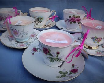 Scented Candle Cup and Saucer