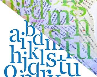 Alphabet Stencil, letter stencil, layering stencil, letterform stencil