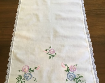 Vintage embroidered table runner.