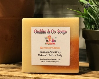 Summer Citrus Handcrafted Soap | Made With Shea Butter & Olive Oil |