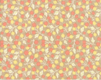 SALE - Coney Island - Berry Medley in Boardwalk Tan: sku 20287-18 cotton quilting fabric by Fig Tree and Co. for Moda Fabrics - 1 yard