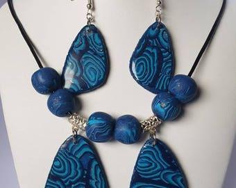 Set necklace & earrings BlueOcean