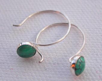 My Blue Heaven Delicate Turquoise Earrings iNk jewelry