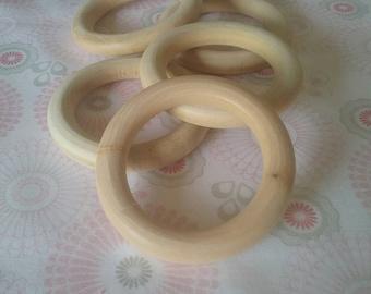 Wooden Teething Rings - 40mm Maple Pack of 5