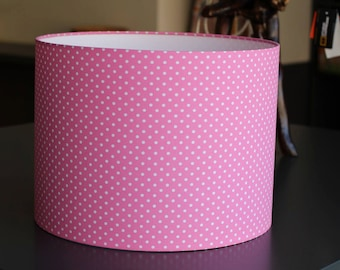 Individual Project Customer Project Pink Lampshade Bright Pink with Dots Polkadots lamp