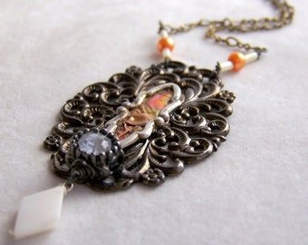 Steampunk Necklace--Victorian Style Vintage Jewelry Parts SNK030