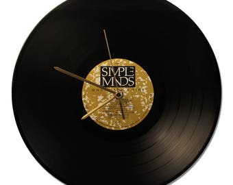 """CLOCK VINYL SIMPLE MINDS """"ONCE UPON A TIME"""" 33tours"""