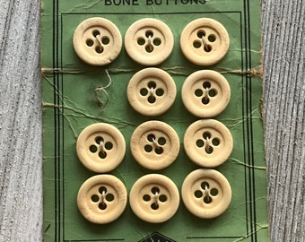 Vintage Superior Bone Buttons