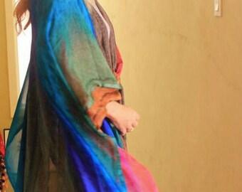 EARTHSONG Handpainted Silk Ruana
