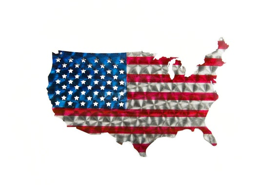United States Flag cut out of steel