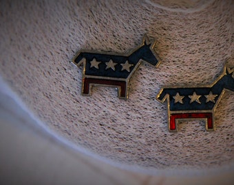 Democrat Donkey Stud Earrings!