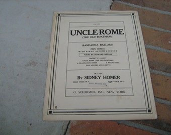1909 sheet music (  uncle Rome the old boatman )