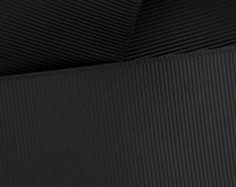 Black Grosgrain Ribbon Solid- Choose Width / Length