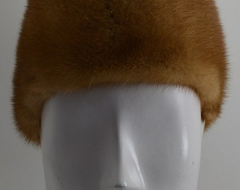 Whiskey Mink fur Headband made in the USA