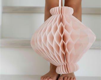Vintage style lantern shaped honeycomb decoration / hanging decoration / valentine / party decorations / wedding decorations / backdropp