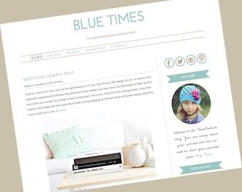 Wordpress premade theme. Clean, stylish, modern and fully responsive wordpress template - Blue Times
