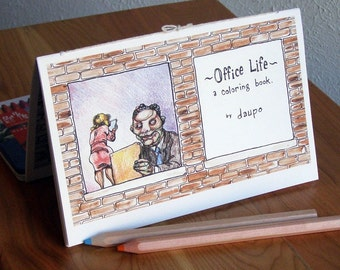 Office Life, a Coloring Book