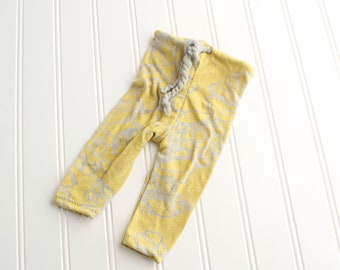 Wheat Fields - newborn pants in a dusty chartreuse yellow green with grey (RTS)