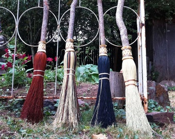 Wedding Besom, Jumping Broom in your choice of Natural, Black, Rust or Mixed Broomcorn - Broom Jumping & Handfasting Broom