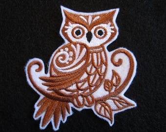 Embroidered Owl Iron On Patch, Owl Patch, Owl, Iron On Patch, Iron On Applique, Owls,
