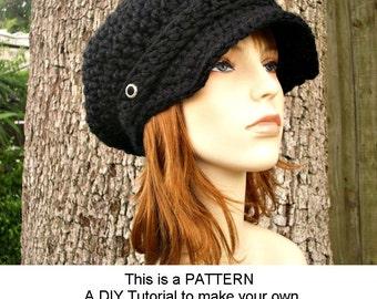 Instant Download Crochet Pattern - Crochet Hat Pattern for Crochet Newsboy Hat Pattern - Womens Hat Pattern - Womens Accessories