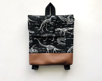 Glow in the Dark Dinosaur Tiny Pack - Small Backpack - Toddler Backpack - Tiny Backpack - Toddler Bag - Backpack - dinosaur