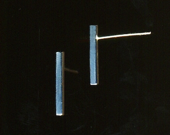 Sterling Silver or Gold-Filled minimalist tiny straight Bar Earrings