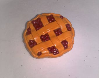 Fruit tart checkered magnet