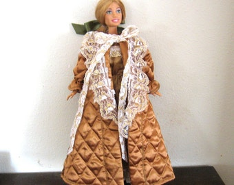 Barbie Clothes Gold Robe and Gown Set