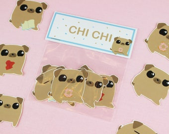 Cute Stickers / Pug Stickers / Laptop Stickers / Animal Stickers / inspirational Kids Gift / Macbook Decal / kawaii stickers / cute Stickers