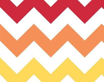 Riley Blake - Large Rainbow Chevron - 1/2 yard fabric - by Boutique Mia