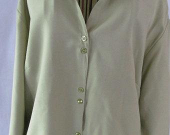 Sage Green Blouse 3/4 Sleeve Blouse