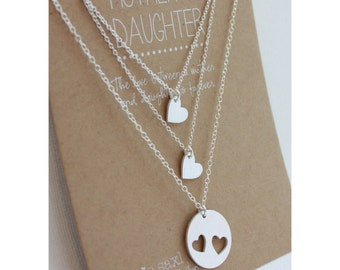 Mother Daughter Necklace Set - Jewelry Gift - mother daughter jewelry - necklace gift - wedding gift - Gift for her - for mom - graduation