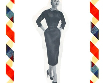 Vintage Sewing Pattern in any size including plus size 1949 PDF Instant Download Pattern no 28