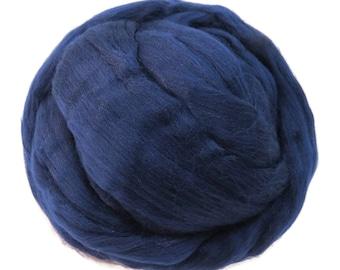 Merino Silk  Roving, (Tuarag) Light Navy Blue