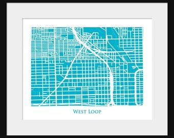 West Loop Map - Chicago Map - Neighborhood
